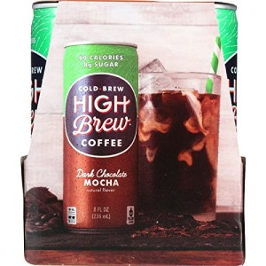 High Brew Coffee Coffee - Ready to Drink - Dark Chocolate Mocha - 4/8 oz - case of 6 - 60 Calories - 8g Sugar