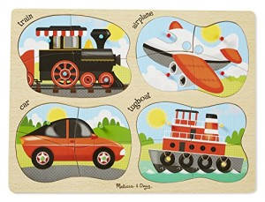 Melissa & Doug 4-in-1 Peg Puzzle - Vehicles