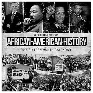 2016 African American Black History 12 Month Wall Calendar