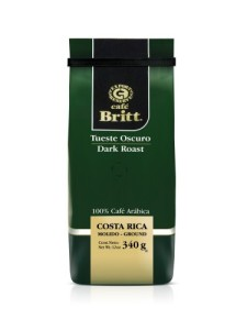 Cafe Britt Costa Rica Dark Roast Ground Coffee, 12-Ounce Bag