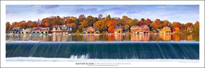 Award Winning Landscape Panoramic Art Print Poster: Boathouse Row | Philadelphia | Pennsylvania | New Release 2015