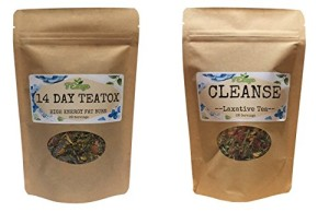 BUY 1 Get 1 FREE - Buy Skinny Mint 14 DAY TEATOX & GET 14 NIGHT CLEANSE TEATOX FREE - Pure Herbs-Reduces Weight, Bloating&Puffiness-100%MoneyBackGuarantee