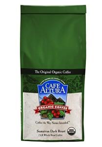 Cafe Altura Whole Bean Organic Coffee, Sumatran Dark Roast, 2 Pound