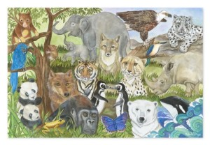 Melissa & Doug Endangered Species 48 Piece Floor Puzzle