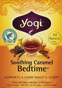Yogi Bedtime Herbal Tea Caffeine Free Soothing Caramel