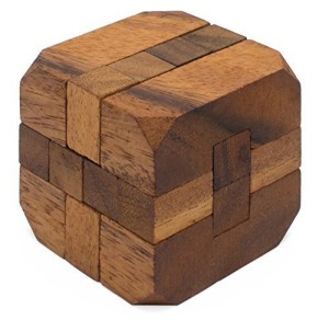 Hidden Passage: Handmade & Organic 3D Brain Teaser Wooden Puzzle for Adults from SiamMandalay