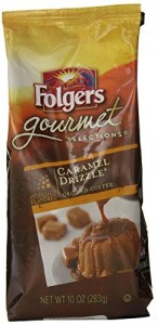 Folgers Gourmet Selections Coffee, Caramel Drizzle, 10 Ounce