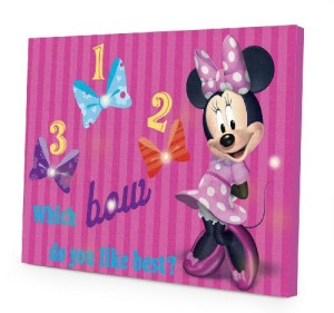 Disney Minnie Mouse LED Canvas Wall Art, 15.75-Inch x 11.5-Inch