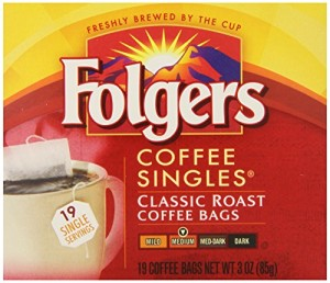 Folgers Classic Medium  Roast Coffee Singles Serve Bags, 114 Count