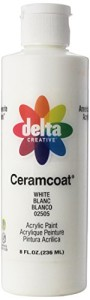 Delta Creative Ceramcoat Acrylic Paint in Assorted Colors (8 Ounce), 025058 White