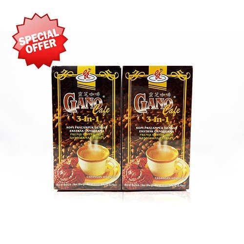 2 Boxes Gano Cafe 3-in-1 By Gano Excel USA Inc. - 40 Sachets