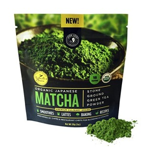 Jade Leaf - Organic Japanese Matcha Green Tea Powder, Premium Culinary Grade (Preferred By Chefs and Cafes for Blending & Baking)