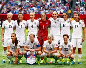 2015 Women's World Cup Team USA Champions 8X10 Photo #2