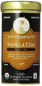 Zhena's Gypsy Chai Black Tea, Vanilla, 22 Count
