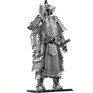 D-Mcark 3D Metal Models Art Metal Works 3D Laser Cut Models Puzzle Tool Kit Warrior's Armor Silver
