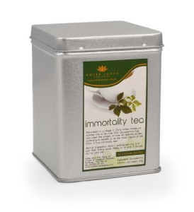 White Lotus Anti Aging-Jiaogulan Tea -Gynostemma-Jiao Gu Lan Tea- Premium grade 'Immortality tea' in Pyramid tea bags- Free from Caffeine!- BY FAMOUS ANTI AGING EXPERTS