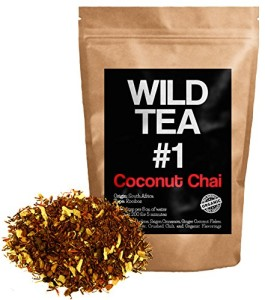 Coconut Chai, Organic Rooibos Loose Leaf Tea, Wild Tea #1 Herbal Chai Tea
