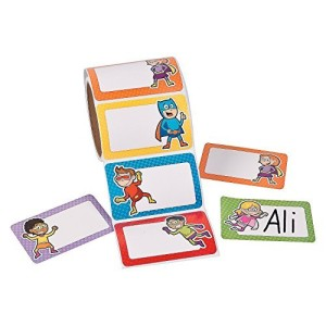 Superhero Name Tags (100 Pieces)School supplies/Stationary/Functions by FX