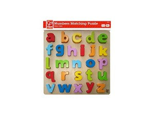 Hape - Lowercase Alphabet Wooden Stand Up Puzzle