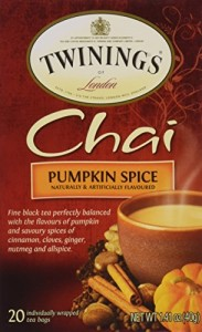Twinings Pumpkin Spice Chai, 20 Count (Pack of 6), (Packaging may vary)