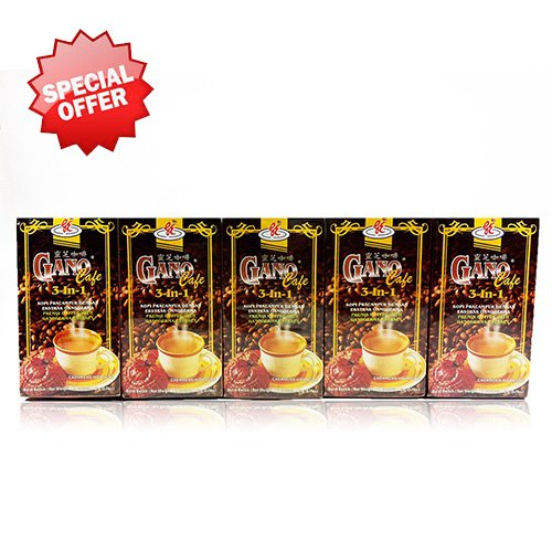 5 Boxes Gano Cafe 3-in-1 By Gano Excel USA Inc. - 100 Sachets
