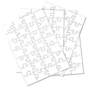 "Inovart Puzzle-It Blank Puzzles 28 Piece 5-1/2"" x 8"" - 24 Per Package"