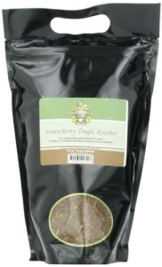English Tea Store Rooibos Tea in Loose Leaf Pouches, Strawberry Tingle, 16 Ounce