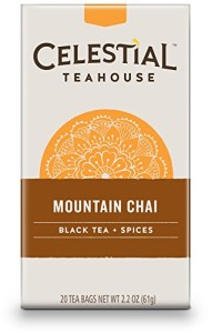 Celestial Seasonings Mountain Chai Tea, 20 Count (Pack of 6)