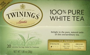 "Twinings of London ""Fujian Chinese Pure White Tea"" : Box of 20 Tea Bags"
