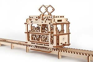 Ugears 3D Self Propelled Model Tram with Rails
