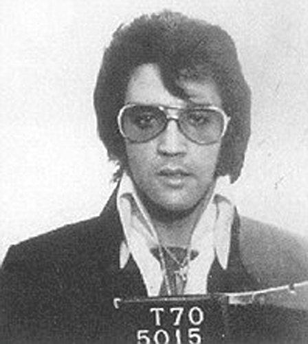 8''x10'' Elvis Presley Speeding, Police Mugshot, Reproduction Print