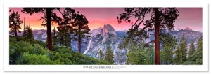 Award Winning Landscape Panoramic Art Print Poster: Yosemite National Park (Sunset)