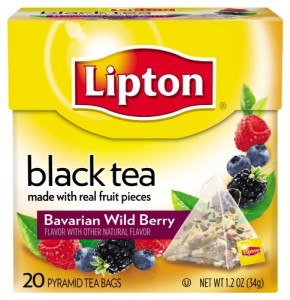 Lipton Black Tea, Bavarian Wild Berry, Premium Pyramid Tea Bags, 20 Count Box