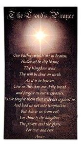 "18'' ""The Lord's Prayer'' Flickering Light Canvas"