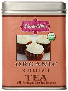 Brew La La Tea Organic Tea Bags, Red Velvet, 100 Count