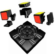 """55cube, Anti-pop Speed Cube, Quicker, Easier & More Precisely Than Original Speed Cube, Super-durable, Vivid Color 3x3 Puzzle Cube, 3 Layer Speed Cube 2.2"""" Black, 100% Money Back Guarantee!"""