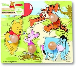 Disney Baby Winnie the Pooh Wooden Jumbo Knob Puzzle
