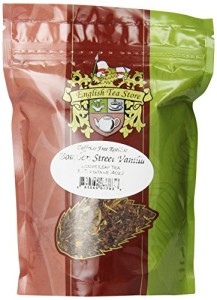 English Tea Store Rooibos Loose Leaf Caffeine Free Tea Pouches, Bourbon St. Vanilla, 4 Ounce